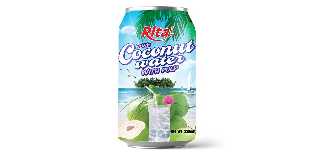 330ml slim coconut water with pulp