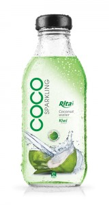350ml Glass bottle Kiwi Flavor Sparking Coconut water