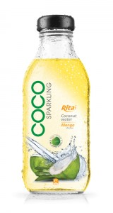 350ml Glass bottle Mango Flavor Sparking Coconut water