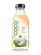 350ml Glass bottle Pineapple Flavor Sparking Coconut water