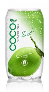 350ml Pet bottle Sparking coconut water  with kiwi juice