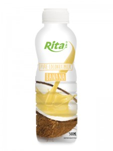 500ml PP bottle Pure Coconut Milk with Banana
