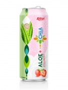 Aloe vera with chia strawberry flavor