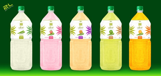 Aloe vera with fruit juice 2000ml Pet bottle