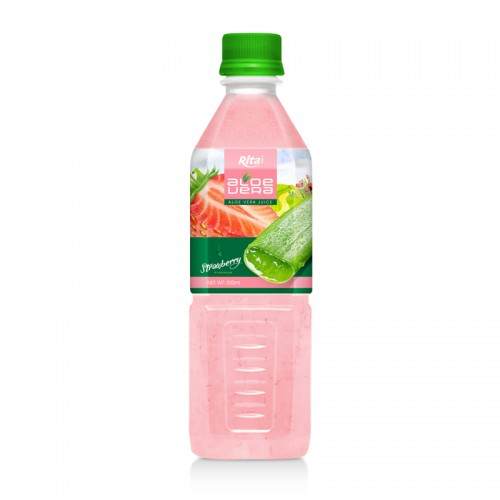 Aloe vera with strawberry juice 500ml Pet Bottle