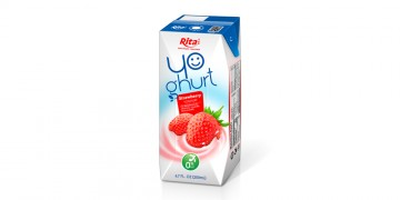 Aseptic 200ml Strawberry Yoghurt