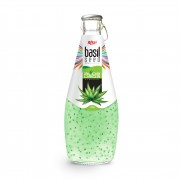 Basil seed with aloe vera 290ml glass bottle