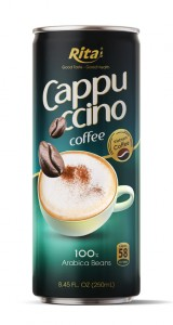 Cappuccino Coffee 100 percent arabica beans  250ml canned