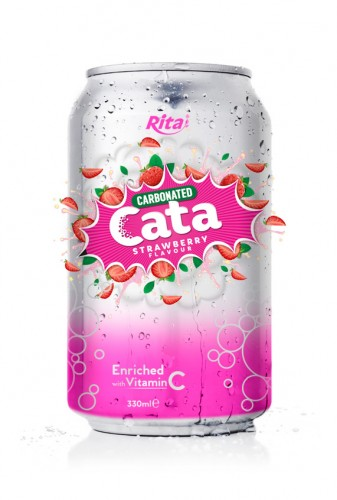 Carbonated Natural Strawberry Flavor Drink
