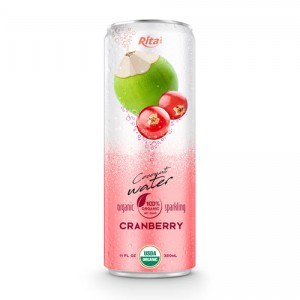 Coco Organic Sparkling with cranberry 320ml can 02