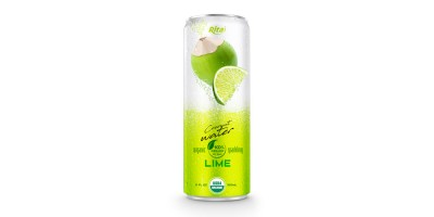 Coco Organic Sparkling with lime 320ml can 03