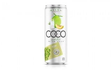 Coco water pulp with  melon 330ml