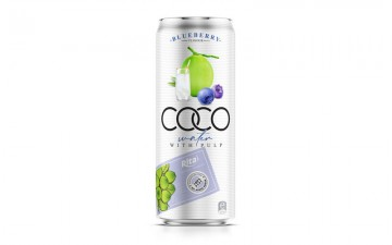 Coco water pulp with blueberry 330ml