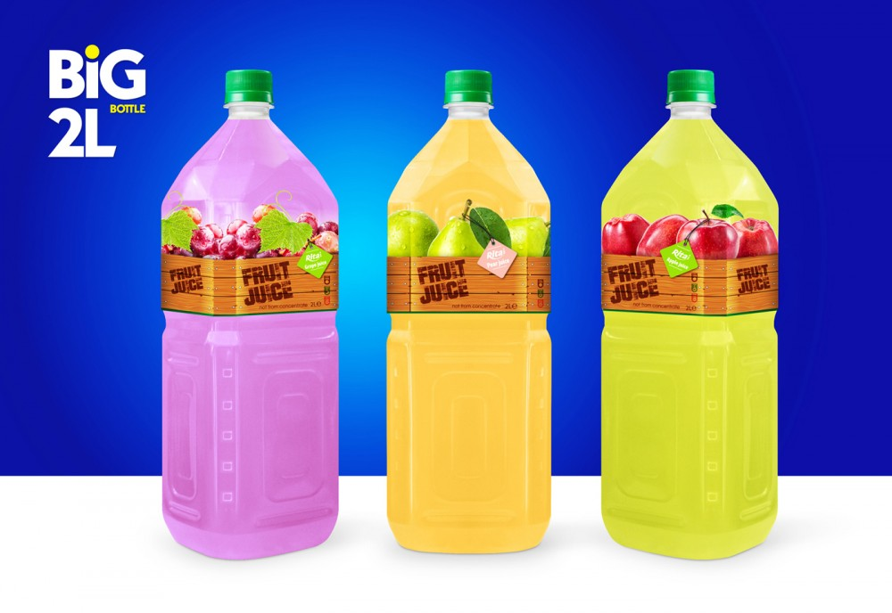 Design Pet Bottle 2L tropical fruit drinks