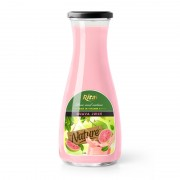 Juice packaging design guava juice 1L Glass bottle