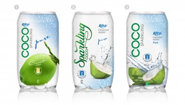 Natural coconut water 350ml pet bottle
