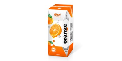 Orange juice in tetra pak