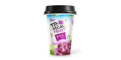 PP cup 330ml fruit grape juice