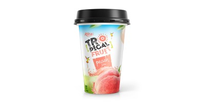PP cup 330ml fruit peach juice