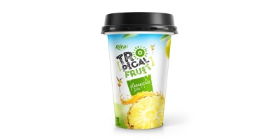 PP cup 330ml fruit pineapple juice