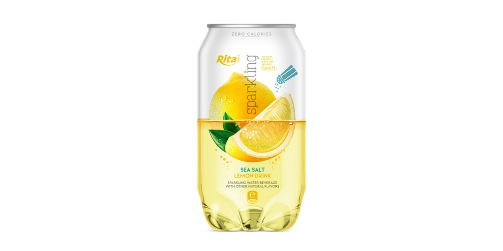 Pet can 350ml Sparkling drink with lemon  flavor rita