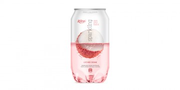 Pet can 350ml Sparkling drink with lychee flavor rita