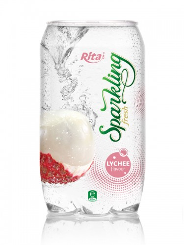 Sparkling lychee juice drink 350ml Pet bottle