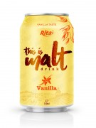 Vanilla flavor malt drink 330ml