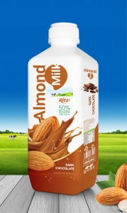 almond milk with chocolate 1000ml PP bottle