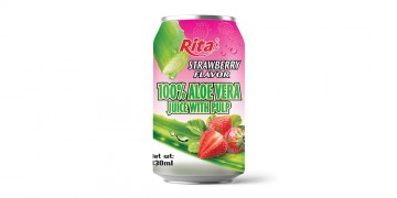 aloe vera juice with pulp flavor fruit 330ml