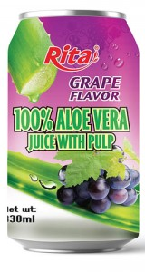 aloe vera juice with pulp flavor grape
