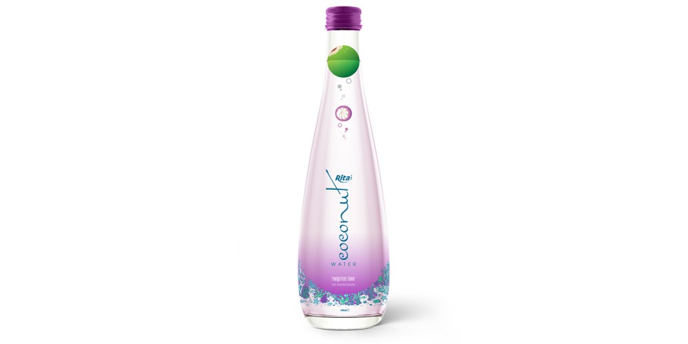 coconut waterwith mangosteen  glass bottle 300ml