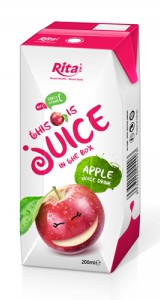 fruit apple juice tetra pak