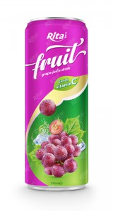 fruit grape juice enrich vitamin C in 320ml can