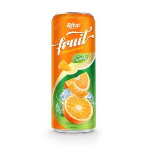 fruit orange juice enrich vitamin C in 320ml can