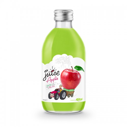 glass 320ml fruit apple