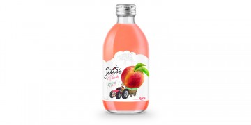 glass 320ml fruit juice peach private label brand