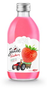 glass 320ml fruit trawberry juice private label brand