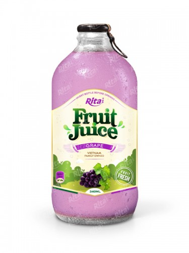 grape fruit juice 340ml glass bottle
