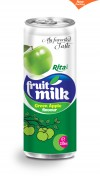 green apple flavour fruit milk