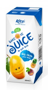 packaging solutions mix fruit juice in tetra pak