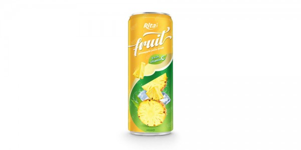 pineapple fruit juice enrich vitamin C in 320ml tin can