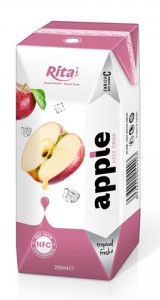 tropical fresh with apple juice in tetra pak
